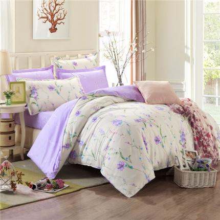 映爽家纺 特价花型纯棉活性印染四件套全棉床上用品床单被套味道