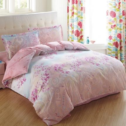 映爽家纺特价花型纯棉活性印染四件套床上用品床单被套夜色朦胧