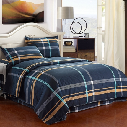 映爽家纺 特价花型纯棉活性印染四件套床上用品床单被套真爱永恒