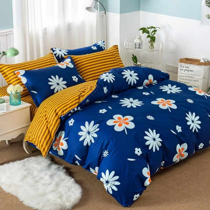 映爽家纺  独家花型全棉四件套纯棉床上用品床单被套新梦境花