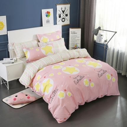 映爽家纺  独家花型全棉四件套纯棉床上用品床单被套 星语星愿