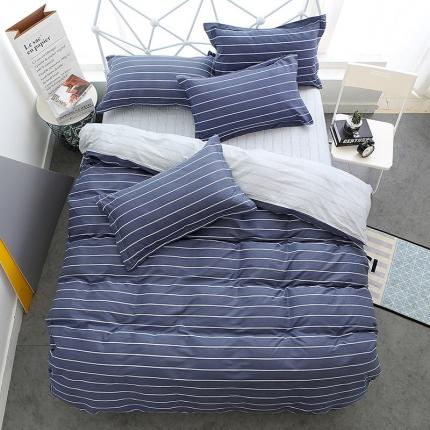 映爽家纺  独家花型全棉四件套纯棉床上用品床单被套 休闲时光