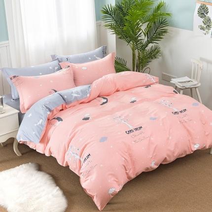 映爽家纺  独家花型全棉四件套纯棉床上用品床单被套 许愿树