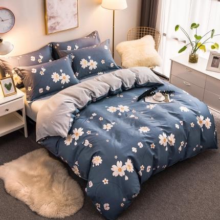 映爽家纺  独家花型全棉四件套纯棉床上用品床单被套 依依花梦