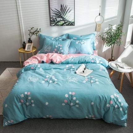 映爽家纺  2018年新款全棉四件套  床单 被套阳光故事