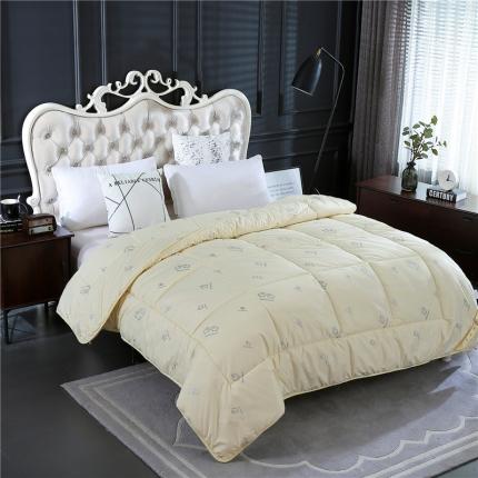 畅畅家纺 加厚保暖羊毛被芯冬被棉被米白色