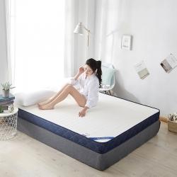 鑫博莱  2019新款乳胶记忆海绵立体床垫 白色
