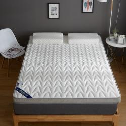 鑫博莱 2019新款升级款乳胶记忆棉床垫 立体波纹款-尊贵白