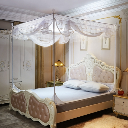 伊而梦蚊帐 8816甜蜜花园系列坐床蚊帐 白色