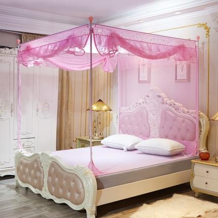 伊而梦蚊帐 8816甜蜜花园系列坐床蚊帐 粉色