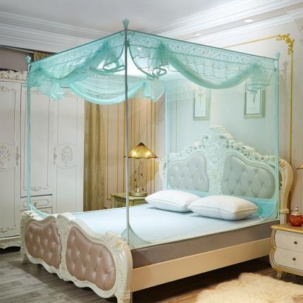 伊而梦蚊帐 8816甜蜜花园系列坐床蚊帐 水绿