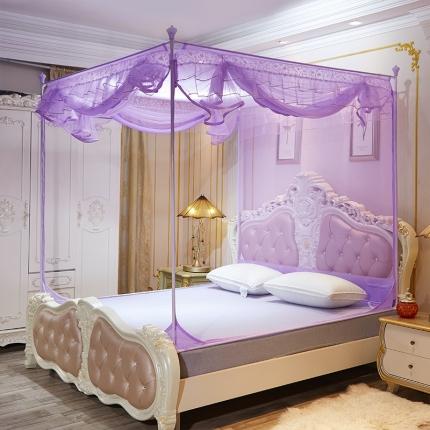 伊而梦蚊帐 8816甜蜜花园系列坐床蚊帐 紫色