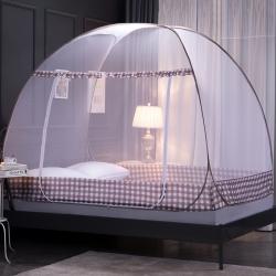 (總)三夏光年 2019英倫格系列免安裝蚊帳家居款