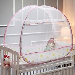 三夏光年 2019小太陽免安裝嬰兒蚊帳 粉色