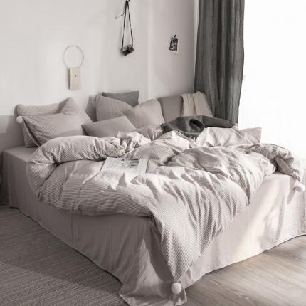 (总)优悦 西西里系列水洗棉四件套床笠款
