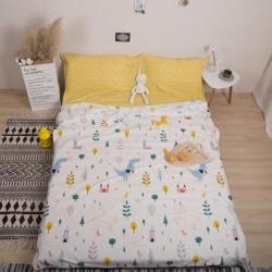 澳玛尼 2019新款全棉13372旅游隔脏睡袋 独角兽-黄