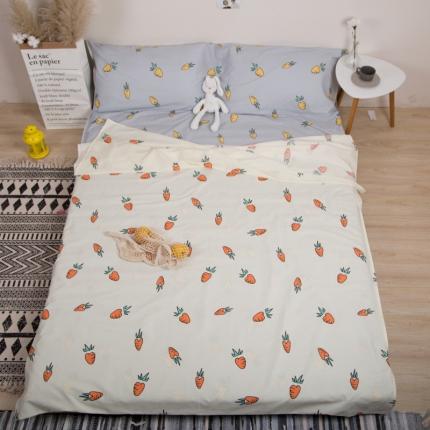 澳玛尼 2019新款全棉13372旅游隔脏睡袋 胡萝卜