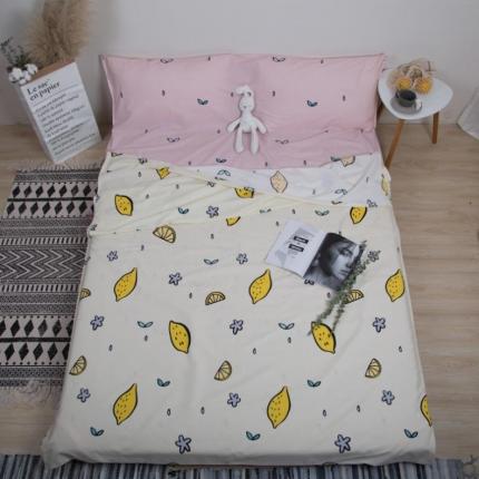 澳玛尼 2019新款全棉13372旅游隔脏睡袋 你好柠檬