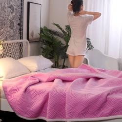 凌依家纺 珊瑚绒毛毯 粉玉