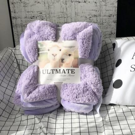 卜古家纺 ULTMATE羊羔绒毛毯升级版安娜紫