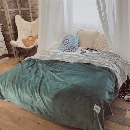 卜古家纺 2018新款奥伊米亚康雪兔绒毯(OK毯) 马丁尼绿