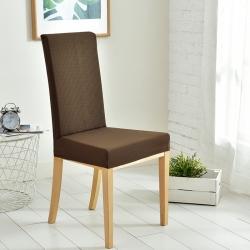 宏雅印象 2018新款华夫格防水餐椅套 均码 咖啡金