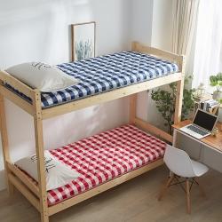 (总)布卢姆床垫 2019英威达全棉英伦风加厚学生床垫