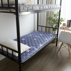 布卢姆床垫 英威达全棉抗菌防螨纯色防水床垫星星蓝色厚度5cm