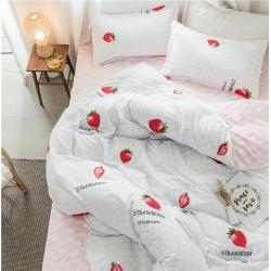 鑫梦源家纺 13372全棉四件套床单款(多规格) 草莓园
