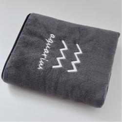 樸爾毛巾浴巾家用三件套比成人全棉大浴巾男女裹巾不掉毛水瓶座灰