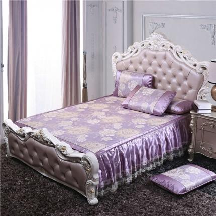 罗意席业 2019新款欧式床裙款 欧式盛世巴黎-紫