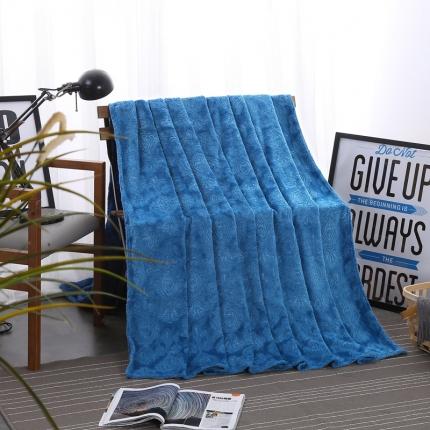 (总)佳单针纺 2018纯色宜家新款毛毯盖毯空调毯