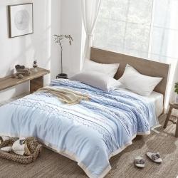 (總)麗笙家紡 天絲棉麻印花夏被傳統風格