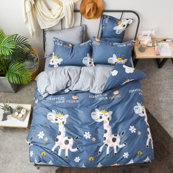 (總)啟發 2018新品棉拼水洗棉四件套床單款