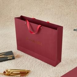 正大包裝 酒紅藝術紙包裝紙袋 52x38x11