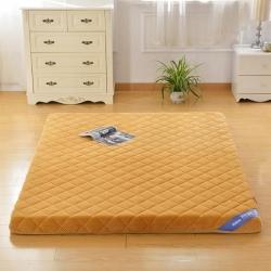 鉆愛床墊 記憶棉床墊單邊貝貝絨 駝色