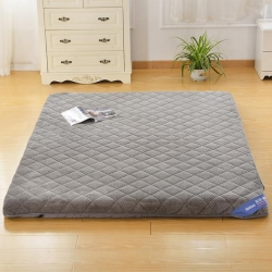钻爱床垫 记忆棉床垫单边贝贝绒 灰色