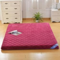鉆愛床墊 記憶棉床墊單邊貝貝絨 豆沙