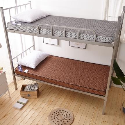 钻爱 2021爆款学生宿舍床垫薄款 4D咖啡色