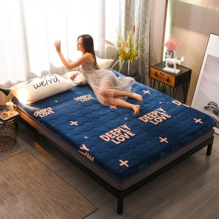 钻爱床垫 10cm厚冬夏两用加厚保暖牛奶绒床垫 爱恋