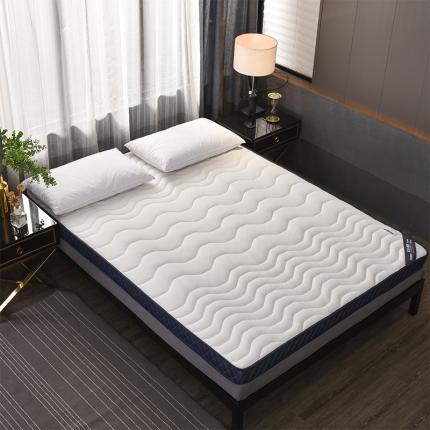 钻爱床垫乳胶记忆棉立体透气床垫立体6.5cm乳胶床垫-银白