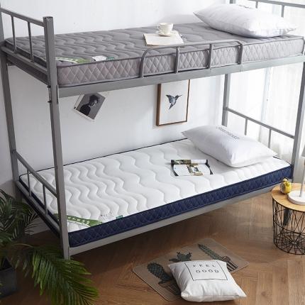 钻爱家纺 学生款立体乳胶记忆棉四季通用床垫厚6.5cm银白色