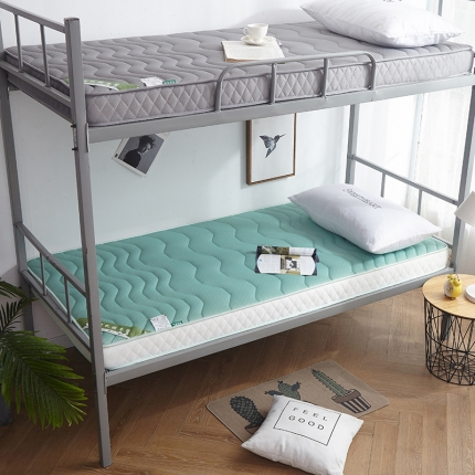 钻爱家纺 学生款立体乳胶记忆棉四季通用床垫厚6.5cm翡翠绿