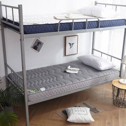 钻爱家纺 学生款立体乳胶记忆棉四季通用床垫厚10cm银灰色