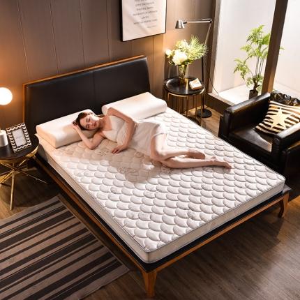 钻爱床垫乳胶记忆棉立体透气床垫立体6.5cm乳胶床垫-蝶恋白