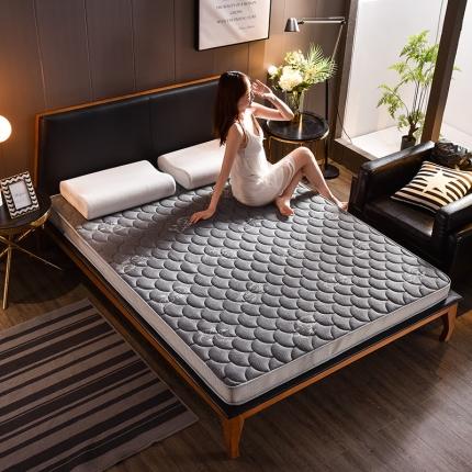 钻爱床垫乳胶记忆棉立体透气床垫立体6.5cm乳胶床垫-蝶恋灰