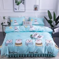 (总)新蕾2019新款天丝软席凉席空调席床裙四件套