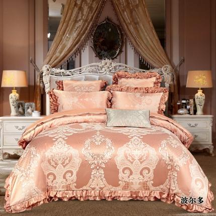 小时代家纺韩版提花床单床盖四件六件套波尔多
