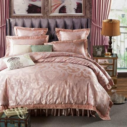 小时代家纺 欧式纯棉夹棉床裙四件套圣罗马
