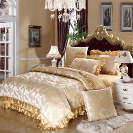 小时代家纺欧式婚庆件床盖四件套六件套皇朝贵族